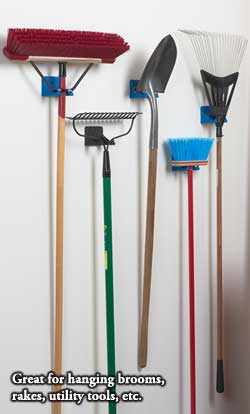EZ-Rack: Great for hanging brooms, rakes, utility tools, etc.